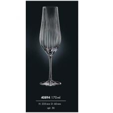 Набор бокалов для шампанского Bohemia Tulipa optic 170мл-6шт 40894/36 170