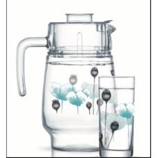 Набор для напитков Luminarc Angelique Turquoise 7пр P6286