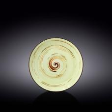 Тарелка обеденная Wilmax SPIRAL PISTACHIO 25.5 см WL-669114 / A