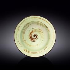 Тарелка глубокая Wilmax SPIRAL PISTACHIO 25.5 см WL-669127 / A