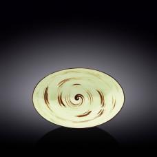 Блюдо глубокое овальное Wilmax SPIRAL PISTACHIO 25х16,5х6 см WL-669140 / A