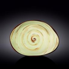 Блюдо камень Wilmax SPIRAL PISTACHIO 33х24,5 см WL-669142 / A