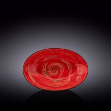 Блюдо глубокое овальное Wilmax SPIRAL RED 25х16,5х6 см WL-669240 / A