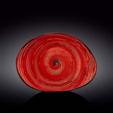 Блюдо камень Wilmax SPIRAL RED 33х24,5 см WL-669242 / A