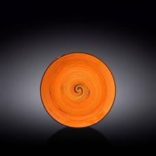Тарелка десертная Wilmax SPIRAL ORANGE 20.5 см WL-669312 / A