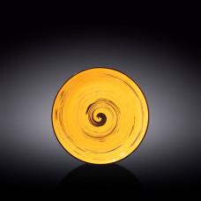 Тарелка десертная Wilmax SPIRAL YELLOW  20.5 см WL-669412 / A