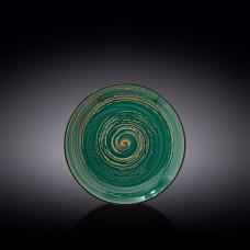 Тарелка десертная Wilmax SPIRAL GREEN  18 см WL-669511 / A