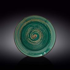 Тарелка глубокая Wilmax SPIRAL GREEN  28.5 см WL-669528 / A