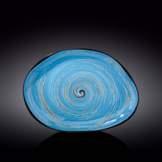 Блюдо камень Wilmax SPIRAL BLUE 33х24,5 см WL-669642 / A
