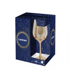 Набор бокалов для вина Luminarc СЕЛЕСТ ЗОЛОТОЙ МЕД 270мл-4шт P9306/1
