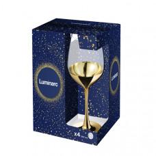 Набор бокалов для вина Luminarc СЕЛЕСТ ЭЛЕКТРИЧЕСКОЕ ЗОЛОТО 350мл-4шт P9155/1