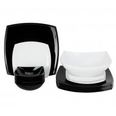 Сервиз столовый Luminarc Quadrato Black&White 18пр C5239