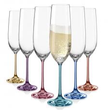 Набор бокалов для шампанского Bohemia Spectrum 190мл-6шт b40729-382222