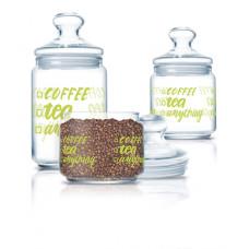 Набор банок для сыпучих Luminarc CLUB COFFEE TEA 3пр P6667