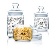Набор банок для сыпучих Luminarc CLUB LOVE PASTA 3пр P6675