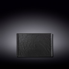 Тарелка прямоугольная WILMAX SLATESTONE BLACK 19,5х14,5см WL-661108 / A
