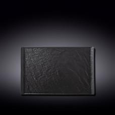 Тарелка прямоугольная WILMAX SLATESTONE BLACK 29,5х14,5см WL-661109 / A