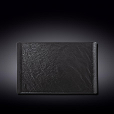 Тарелка прямоугольная WILMAX SLATESTONE BLACK 33,5х20,5см WL-661110 / A