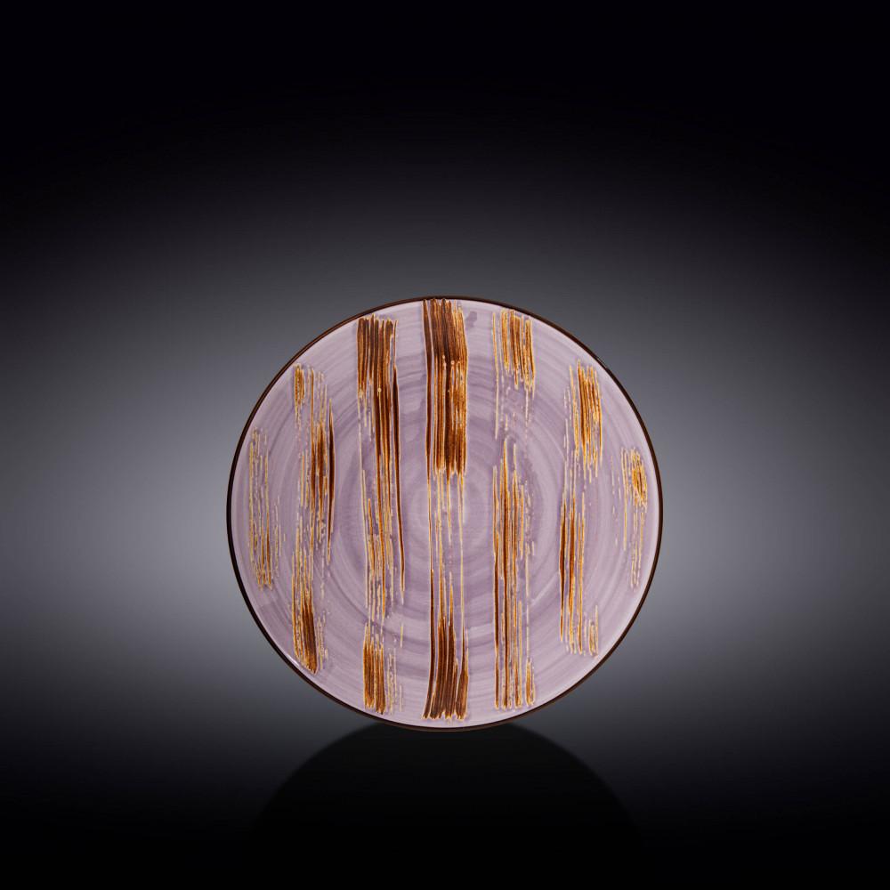 Тарелка десертная Wilmax Scratch Lavander 18 см WL-668711 / A