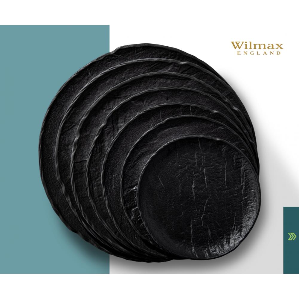 Тарелка круглая WILMAX SLATESTONE BLACK 25,5см WL-661126 / A