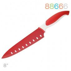 Нож Granchio поварской красный 88666