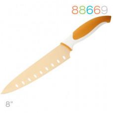 Нож Granchio поварской  оранж. 88669