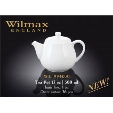 Чайник заварочный Wilmax 500 мл Color WL-994030/1C