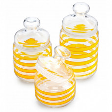 Набор банок для сыпучих Luminarc Spiral Yellow 3пр Q0398