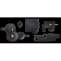 Коллекция SLATESTONE из черного фарфора Wilmax