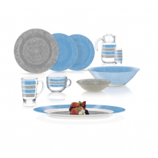 Сервиз столовый Luminarc AMB Blue&Grey 46 пр. Q4728