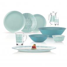 Сервиз столовый Luminarc Simply Fantasia Turquoise 46 пр. N6248