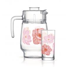 Набор для напитков Luminarc Anabella Pink 7пр Q4799