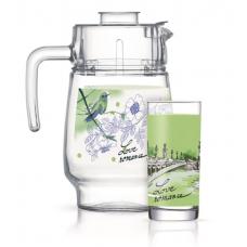 Набор для напитков Luminarc Love Romance Green 7пр Q5668