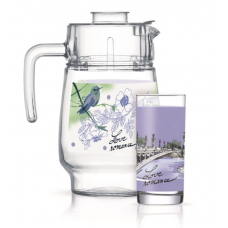 Набор для напитков Luminarc Love Romance Purple 7пр Q5667