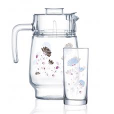 Набор для напитков Luminarc Jasmine Blue 7пр Q4798